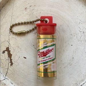 Vintage Miller Beer Key Chain